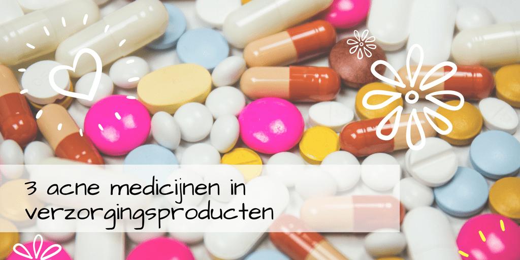 Acne medicijnen in huidproducten