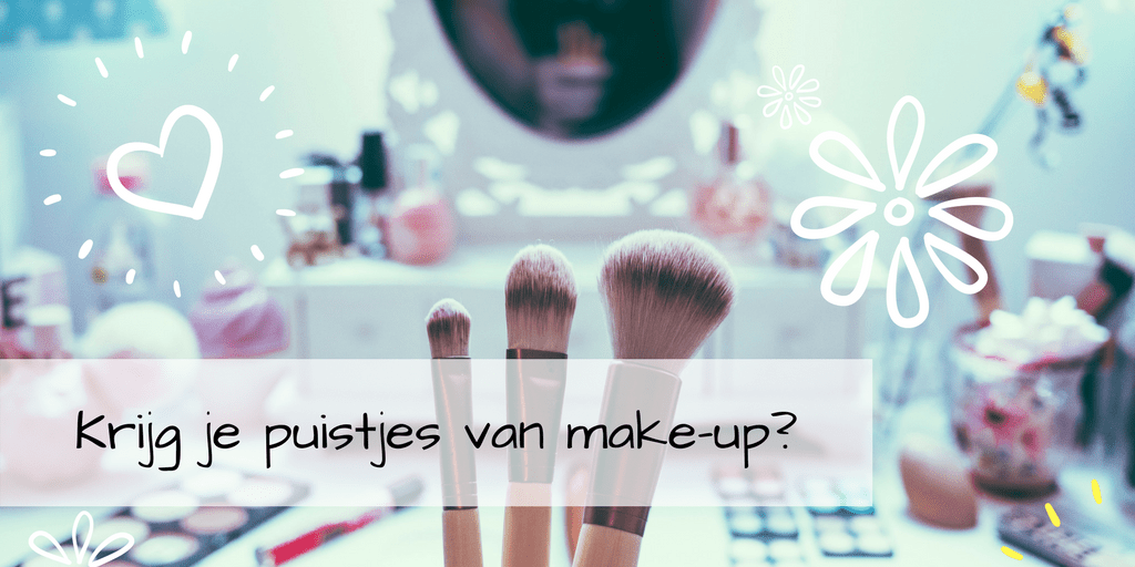 Acne en puisten door make-up